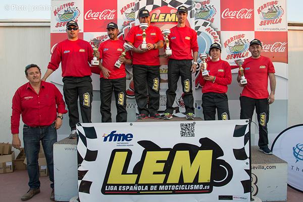 Los podiums de la primera carrera LEM en Sevilla