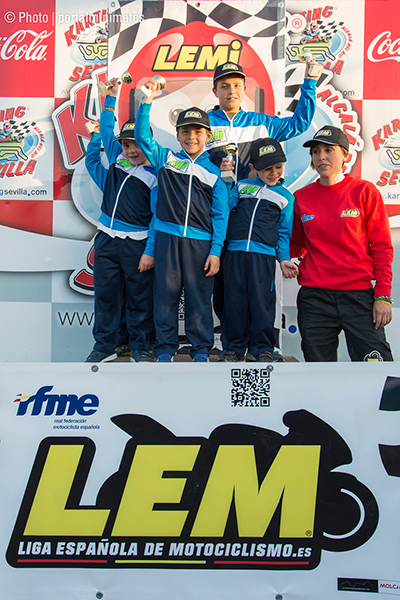 Podiums liga española de motociclismo en sevilla